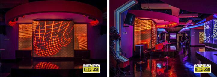 Escenario y interior discoteca